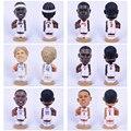 20cm Resin Basketball Stars Bobble Head Figurine Iverson Wade Nowitzki Westbrook Durant Rose Home Decoration Model Sport Gifts