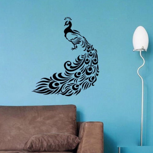 Aliexpress.com : Buy Peacock Wall Decors Animals Wall Decals Bedroom Bird Wall  Decal Home Decors Free Shipping From Reliable Bird Wall Decal Suppliers On  ... Part 49
