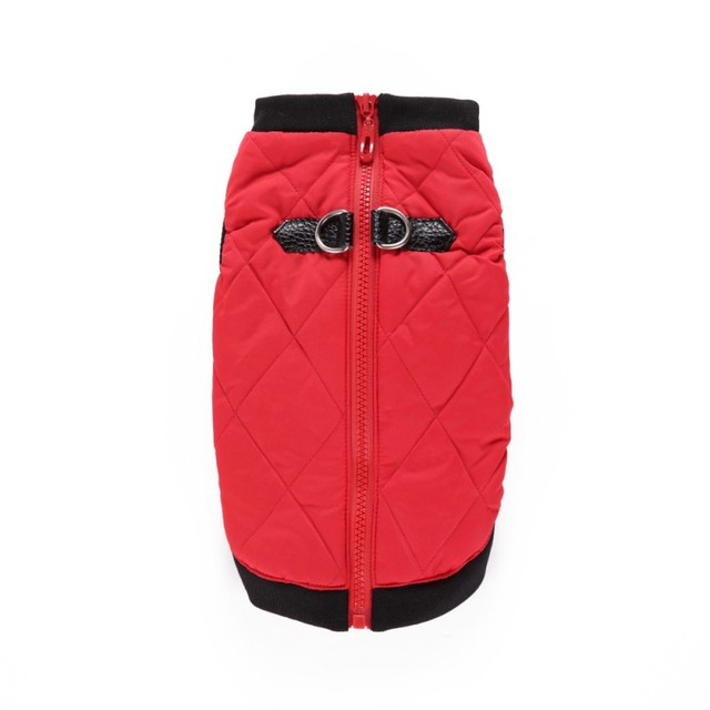 Pet Jacket Zipper Leather Buckle Casual Winter Jacket Warm Multi-color Multi-size Pet Clothes Skin-friendly Comfortable