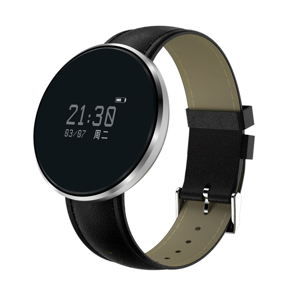 Blood Pressure Tracker Smartband Women Health Smart Watch Heart Rate Alcohol Allergy Fitness Steel/Leather Digital Wristwatch home care laser light therapy instrument wrist watch type reduce high blood pressure
