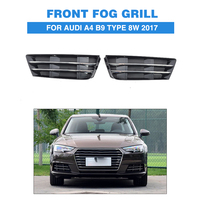 ABS Fog Light Grille Protective Mesh Covers for Audi A4 B9 Type 8W standard bumper only 2017 Car Styling