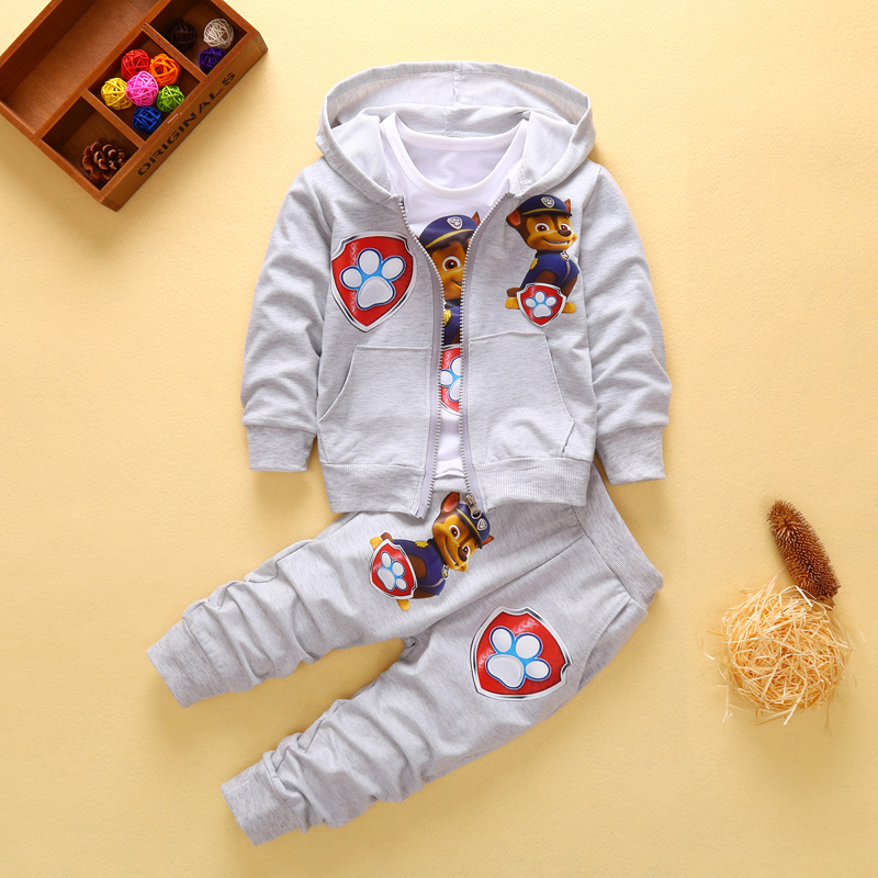 2018 New Children Kids Boys Clothing Sets Autumn Winter Sets Hooded Coat Suits Fall Cotton Baby Boys Coat+Pant 3Pcs Clothes set 2016 new winter spring autumn girls kids boys bunnies patch cotton sweater comfortable cute baby clothes children clothing
