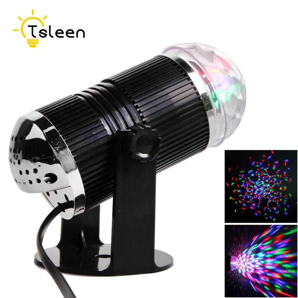 disco light Party Christmas Mini RGB LED Crystal Magic Ball Stage Effect Lighting Lamp Bulb Disco Club DJ Light Show Lumiere disco rgb led stage light auto rotating ball lamp effect magic party club lights for christmas home ktv xmas wedding show pub