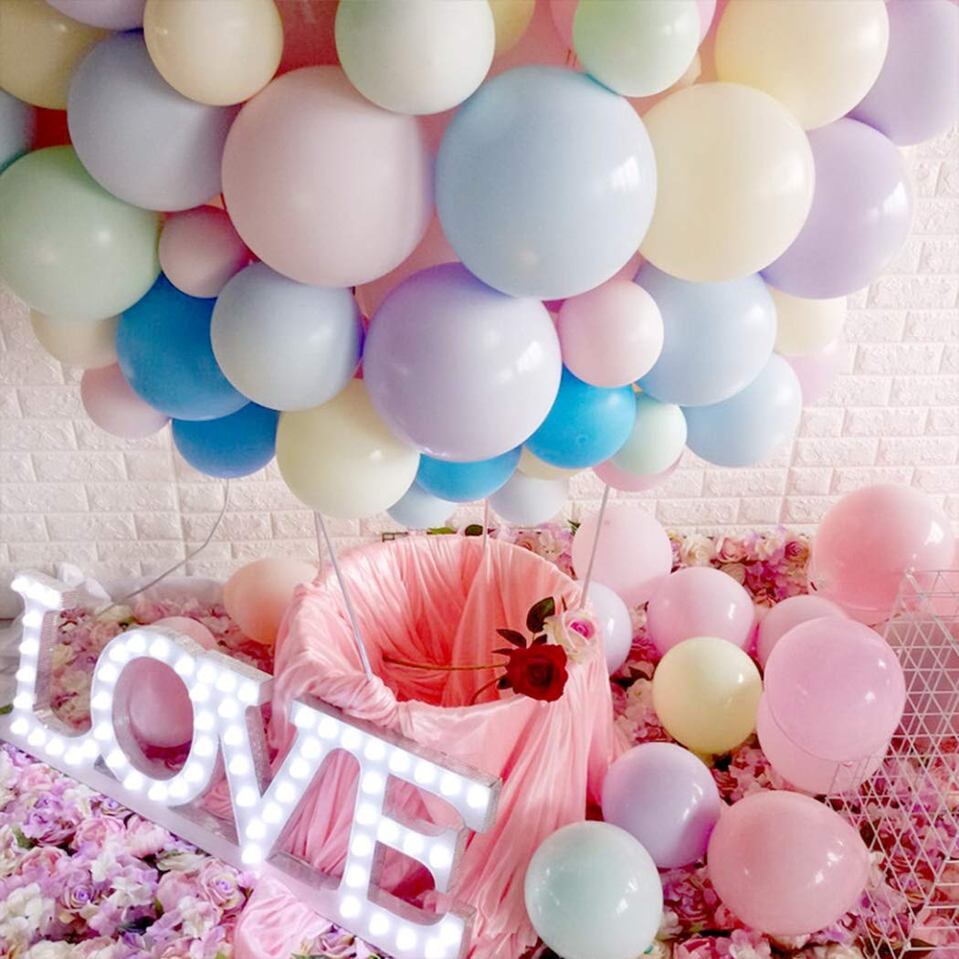 100pcs Pastel Latex Balloons 10 Inches Assorted Macaron Candy Colored Latex Party Balloons for Wedding Graduation Kids Birthday Party Christmas Baby Shower Party Supplies Backdrop Balloon Arch.