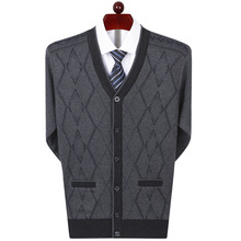 Sweater Men Cardigan Thick Winter Large-Size New Warm Autumn And Plus 75 Coat-Quality