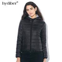 2015 Autumn Winter Women Basic Sport Jacket Coat Female Slim Hooded Brand Cotton Coats Casual Black