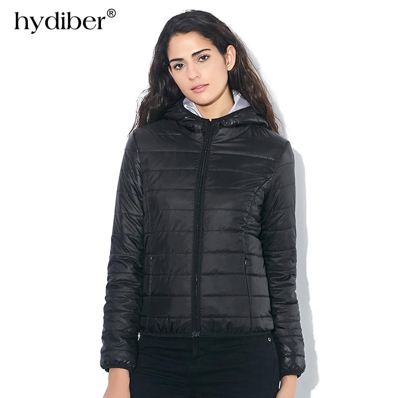 2018 מותג סתיו באביב נשים ז 'קט בסיסי נשים סלים בגדים רוכסן Hooded כותנה מעילים מקרית שחור חורף מעילים בתוספת גודל