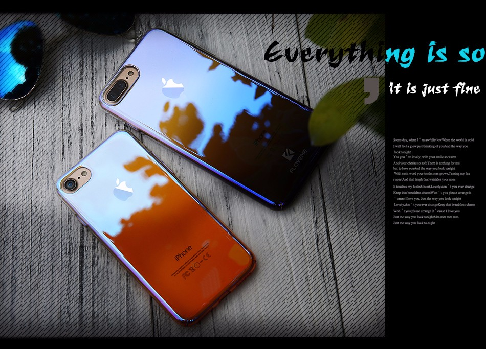 Floveme niebieski ray gradientu przypadki telefonów dla iphone 5 5s se 6 7 6 s plus case do samsung s8 s6 s7 pokrywa dla xiaomi redmi 4 mi5 krawędzi 15