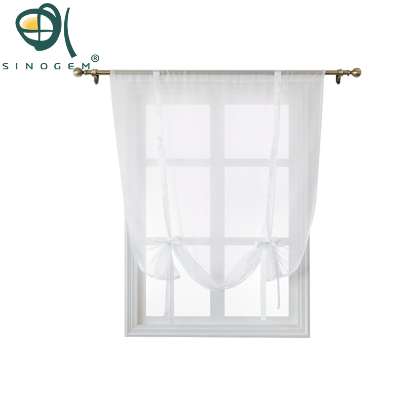 Kitchen Short Curtains Roman Blinds White Sheer Tulle: Aliexpress.com : Buy Sinogem Kitchen Short Sheer Curtains