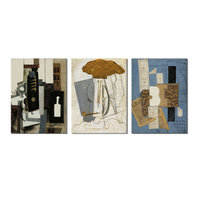 World Famous Paintings Picasso Painting Abstract Picasso Painting 3 Panel Canvals Wall Art For Living Room