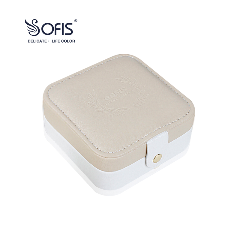 sofis Embossing portable jewelry box jewelry packaging dispay gift box jhopt 30x 60x led lights twins jewelry appraisal magnifier jade jewelry gift box gift packaging