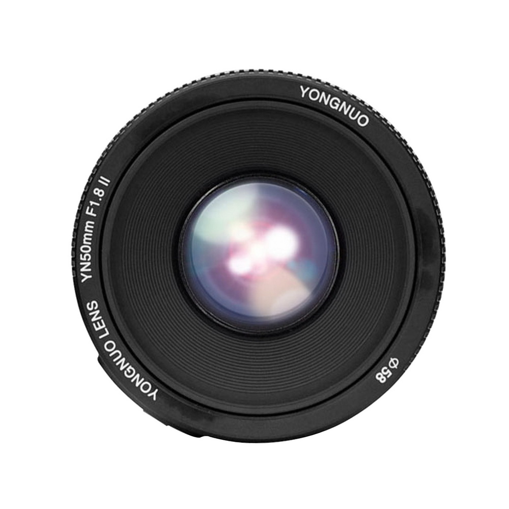 YONGNUO lens YN 50mm F1.8 II Standard Prime Af/Mf Camera Lens 0.35m Focus Metal bayonet YN 50 1.8 II Lenes For Canon