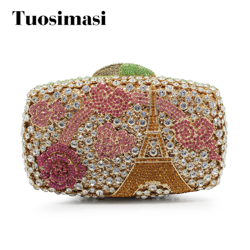 Women Evening Bag Fashion Female Crystal Day Clutches Bags High Quality Ladies Flower Day Purses(88220-GP) цена