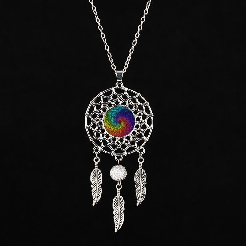 Flor de la vida - Collar tipo mandala de plata