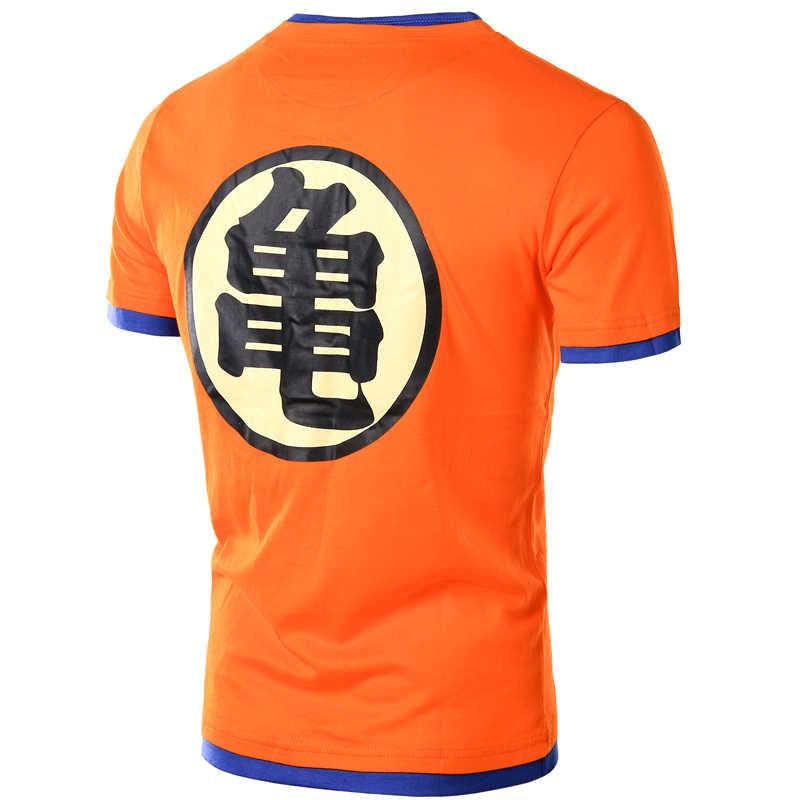 Dragon Ball футболка Для мужчин с коротким рукавом оранжевый с v-образным вырезом Dragon Ball Z Для мужчин s Косплэй футболка Рубашки повседневные топы ультра инстинкт мастер Гоку