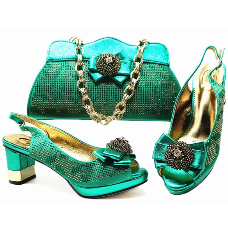 green navy Ensemble Femmes Et Strass Blue purple red Gold Dames Chaussures De Luxe Décoré Correspondant Sacs Africain Ensembles Avec silver Sac Italiennes Pour v10wT0qI