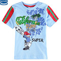 Novatx Детская Одежда Моды Случайные Мальчики Тигр 3D Печатных Футболка С Коротким Рукавом О-Образным Вырезом Мальчики Футболка 3y-4y-5y-6y-7y