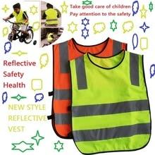 Высокая Видимость Ученик Ребенок Студент Малыш Светоотражающий Жилет Трафика Скутер Велоспорт Жилет Безопасности Куртка