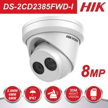 Оригинальный HIK камеры видеонаблюдения IP Камера открытый 8MP сети ИК башни Камера s DS-2CD2385FWD-I Встроенный слот для карт SD и H.265