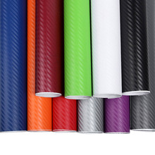 цена на 127x10cm 3D Carbon Fiber Vinyl Car Wrap Sheet Roll Film Car stickers and Decals Motorcycle Car Styling Accessories
