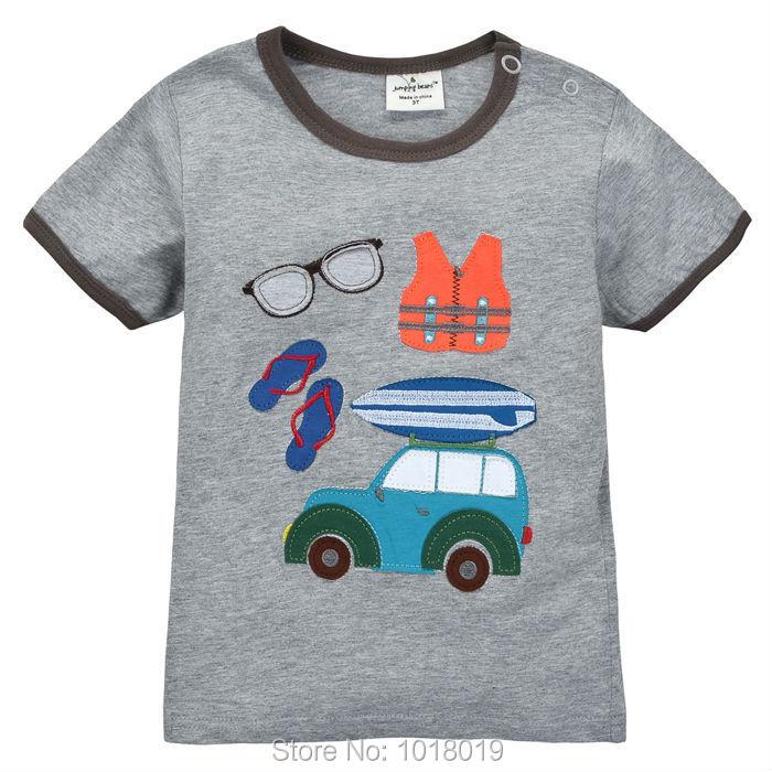 6377b05bc1cfb 18 M ~ 6 T ، جديد 2019 جودة القطن الطفل الأولاد ملابس الأطفال طفل الاطفال  الملابس تيز تي شيرت t قمصان وصفت قميص قصير