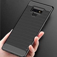 IPAKY TPU Case For Samsung Galaxy Note 8 Note 9 Cover Brushed Coque Carbon Silicone Case For Samsung S7 S8 S9 Plus Case S7 edge все цены