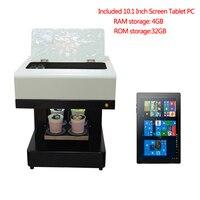 자동 4 컵 커피 마카롱 인쇄 기계 10.1 인치 태블릿 PC