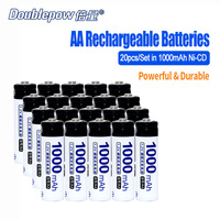 2pcs Lot Doublepow DP AA2700mA 1 2V AA Ni MH Rechargeable Battery In Actual High Capacity