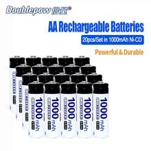 20 teile/los Doublepow DP-AA1000mA 1,2 V AA Ni-CD akku in Tatsächliche Hohe Kapazität Batteriezelle von 1000 mAh KOSTENLOSER VERSAND