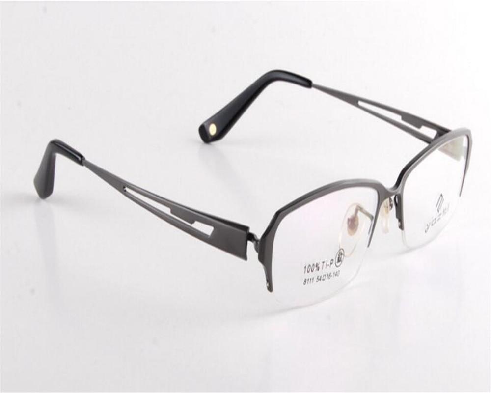 2019 Fashion Eyelook Fashion Men Business Design Half Rim Super Light Pure Titanium Optical Black Silver Myopia Eyeglasses Frame Jny8111 Numerous In Variety Men's Eyewear Frames Apparel Accessories