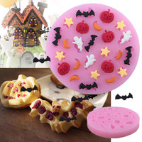 Halloween Pumkin DIY*Cake Icing Mould Kitchen Baking Paste Chocolate Craft