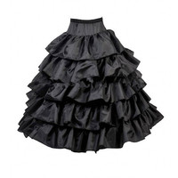 Abbille 4 Hoops Ball Gown Petticoats Cheap Black Petticoat Crinoline Underskirt Big Ruffle Costumes Accessories Womans Tulle