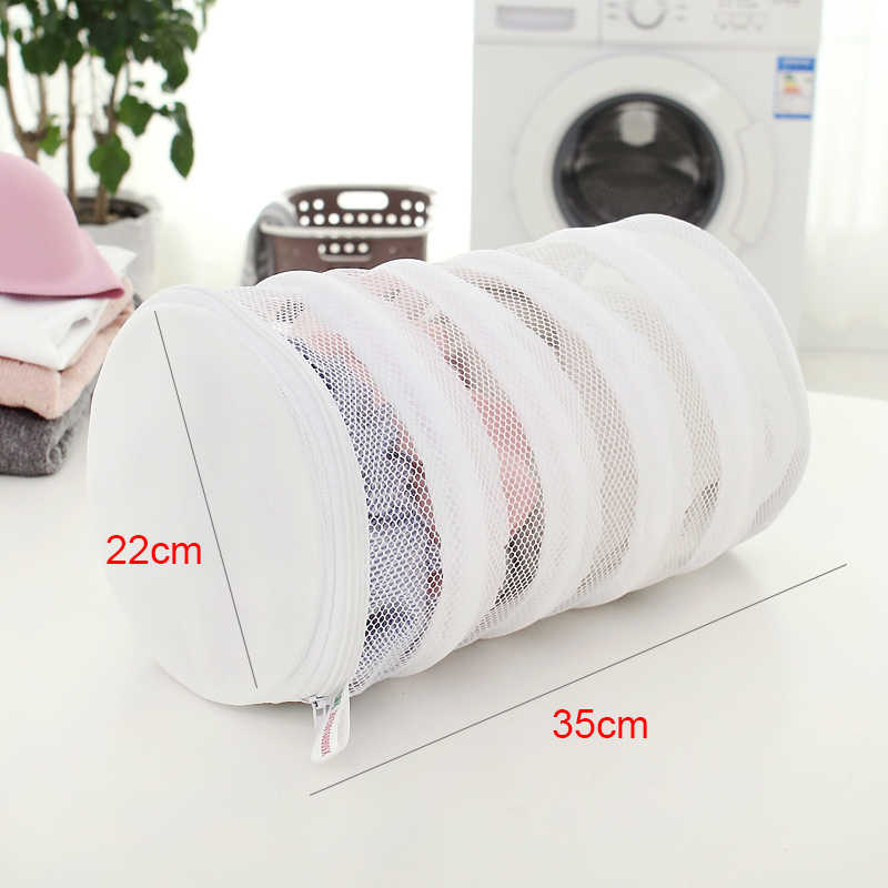 Thicken Fine Mesh Laundry Bag large capacity Printing Double Layer Bra Underwear Care Wash Bag Small Laundry Washing Basket