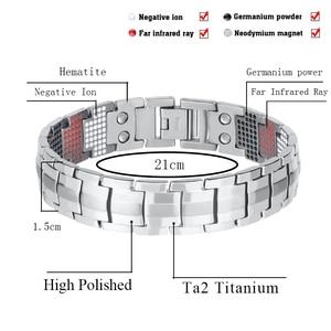 Image 2 - LITTLE FROG Men Jewelry Healing magnetic Bangle Balance Health Bracelet Silver Titanium Bracelets Special Design for Male 10212