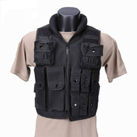 SWAT Tactical Vest Military Tactical Vest Army Hunting Molle Airsoft Vest Outdoor Body Armor Swat Combat Painball Black