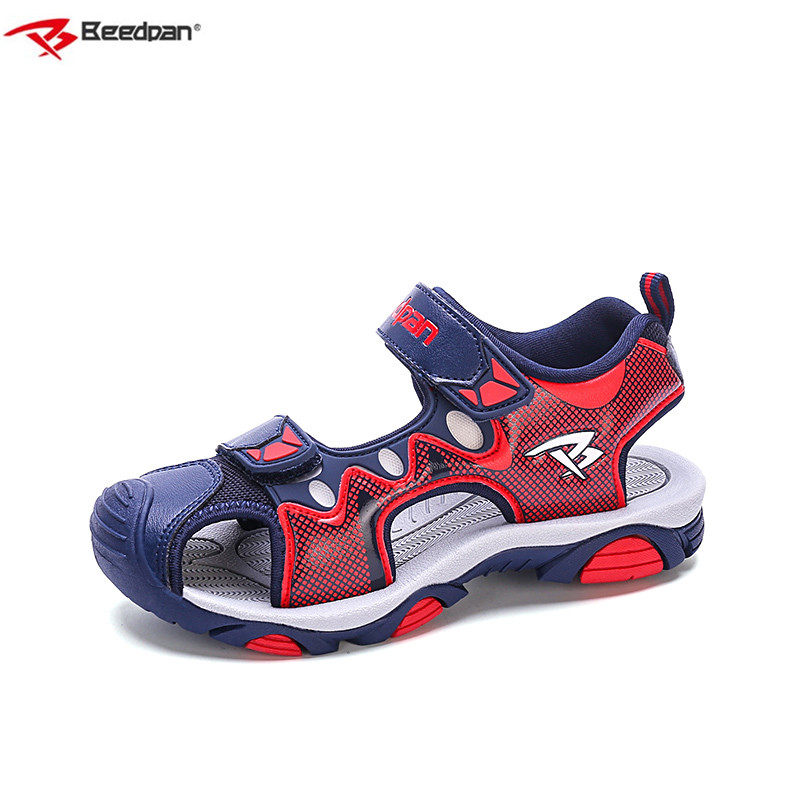 Beedpan Brand 2018 Kids Boy Shoes For Summer Sandal Children Sandals Beach Shoes Fashion Leather Baotou Boys Sandals Orthopedic
