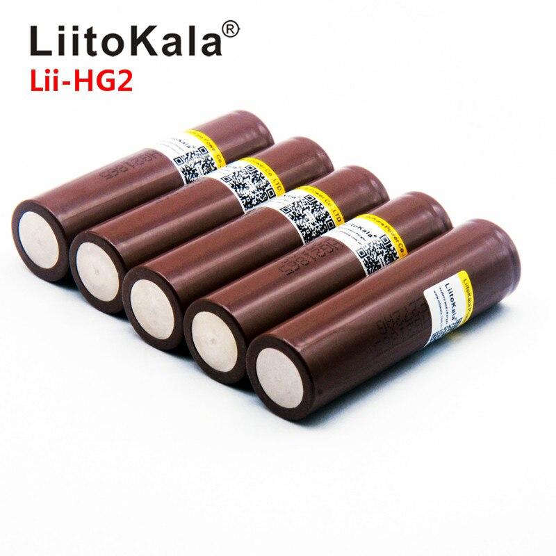 Liitokala quente Lii-HG2 18650 18650 3000mah de alta potência de descarga de baterias recarregáveis de alta potência power bank