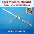 15 мм Линейная Направляющая MGN15 L = 500 мм линейные железнодорожные пути + MGN15C или MGN15H Длинные линейные перевозки для ЧПУ Xyz оси