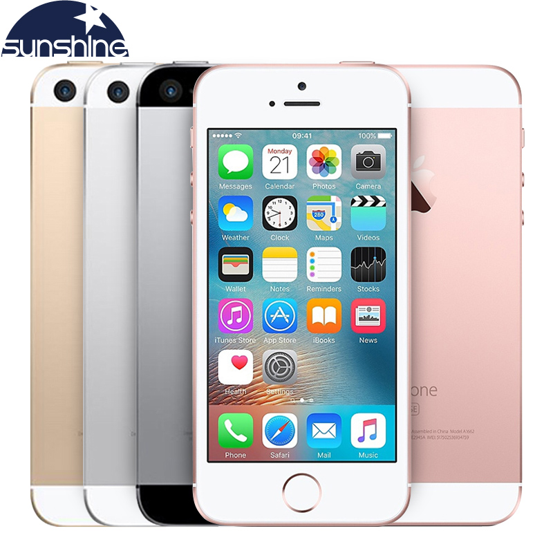 Originais Apple iPhone Desbloqueado SE 4G LTE Mobile Phone iOS Toque ID Chip de A9 Dual Core 2G RAM 16/64 GB ROM 4.0
