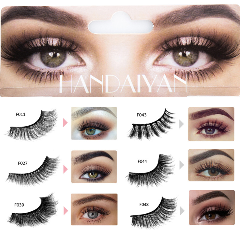 1 Pair Thick False Eyelashes Black Long 3D Mink Hair Eyelashes Eyelash Extension Professional Mink Lashes Makeup Eyelashes 31350