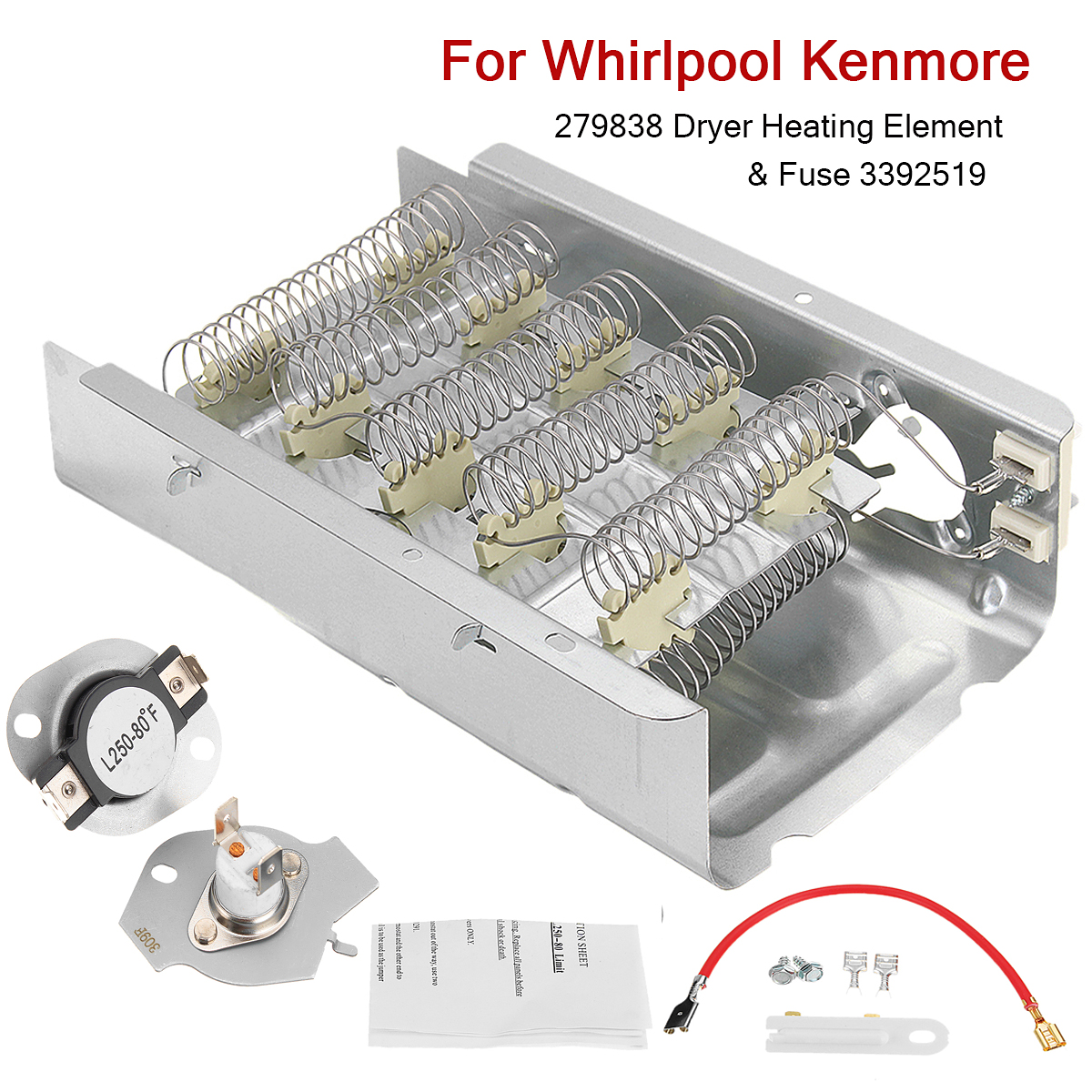 279838 Dryer Heating Element Thermostat Kit Fuse 3392519 For Box Whirlpool Kenmore In Clothes Parts From Home Appliances On Alibaba