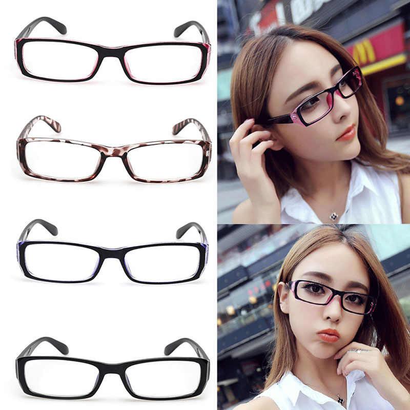 Pria Wanita Optik Kacamata Hitam Kacamata Bingkai Vintage Nerd Kacamata Len Jelas