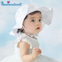 Bnaturalwell/Солнцезащитная шляпа для маленьких девочек; аксессуары для малышей; летняя хлопковая Панама; детская Солнцезащитная шляпа; пляжная шляпа с широкими полями; H835