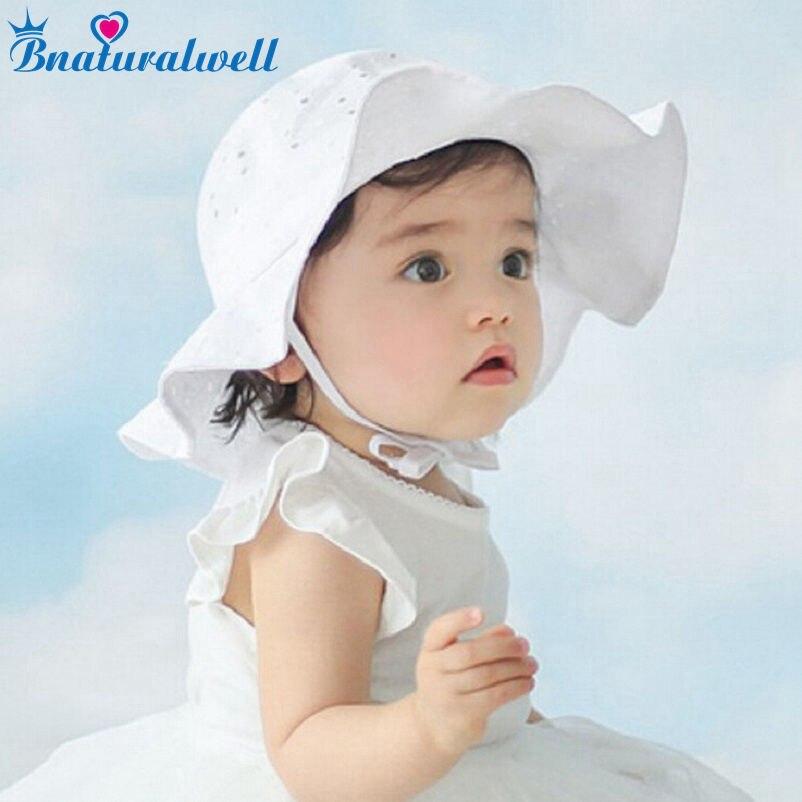 Bnaturalwell малыша девушки шляпа солнца Аксессуары для младенцев летняя хлопковая Панама детская солнце шляпы пляжная шляпа с широкими полями ...