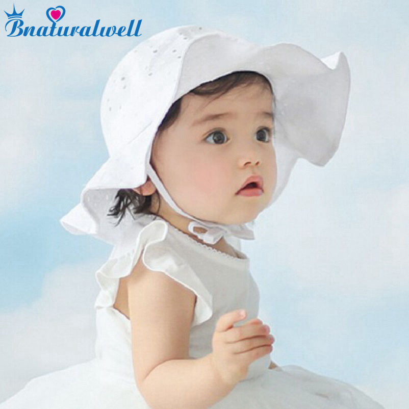 Bnaturalwell Toddler Girls Sun Hat Tilbehør Baby Summer Bomull Bucket Hat Child Sun Hat Brim Beach Hat With Wide Brim H835