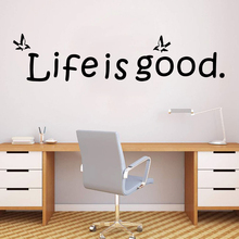 Plane Sticker life is good Art Waterproof Wall Stickers For Kids Room Decoration Decal Mural naklejki na sciane