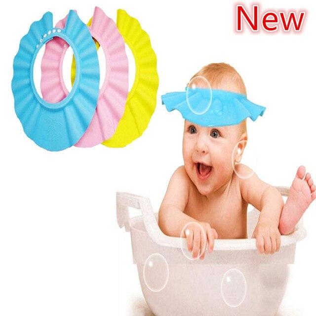 3894a2e970c 2016 Adjustable Baby Hat Toddler Kids Shampoo Bath Bathing Shower Cap Wash  Hair Shield Direct Visor Caps For Children Baby Care
