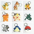 pvc keychains anime 13 Style Charmander Meowth Psyduck Jigglypuff Snorlax RAICHU Pokemon go Keychain Pendants Doll Toy Cute