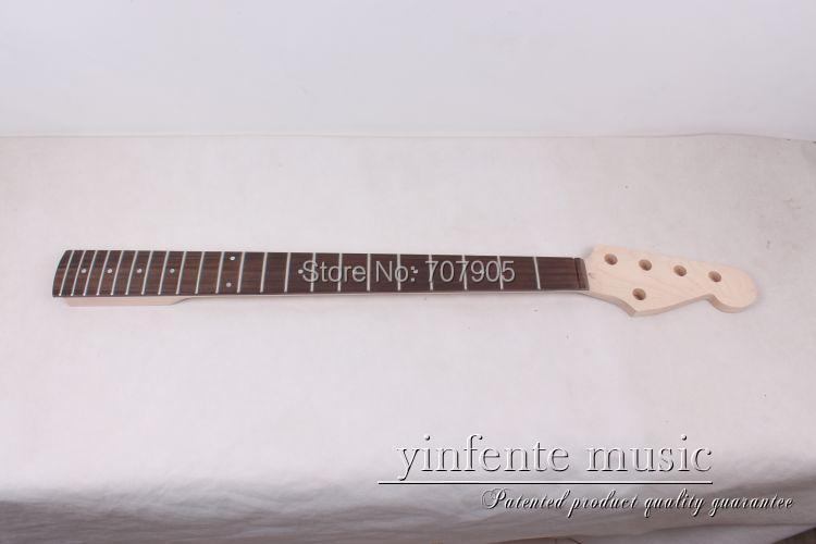 Guitare basse électrique cou 5 cordes érable bois palissandre 22 fret 34 pouces inachevé haute qualité guitare partie accessoire