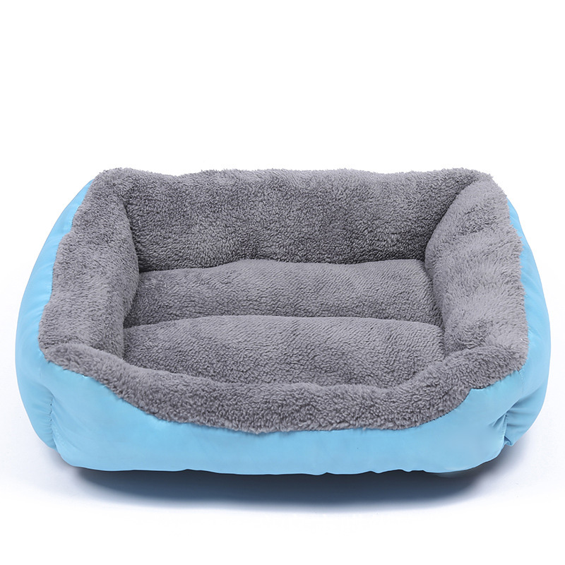 Pet Dog Bed Mat For Small Large Dogs Beds Puppy Sofa Cat Kennels House Beds Solid Grey Warm Cotton Pet Bed 4-size